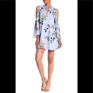 Parker Floral Daphne Cold Shoulder Shift Dress